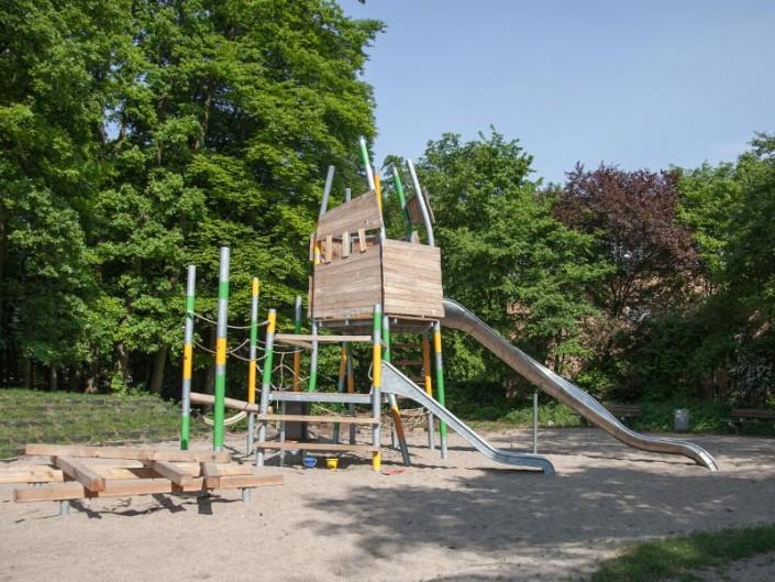 Sandspielplatz von Meykopff in der Entstehungsphase