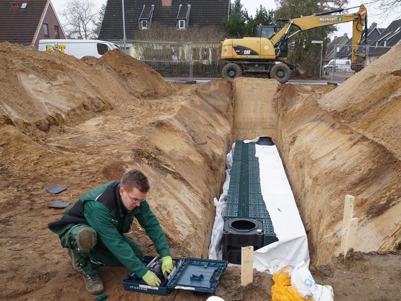 Meykopff Galabau Regenwassernutzung Rigolenersickerung