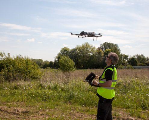 Meykopff Garten- und Landschaftsbau Drohnenflug Regenwassermanagement
