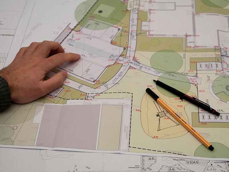 Meykopff Garten- und Landschaftsbau Huntenhorster Weg Plan