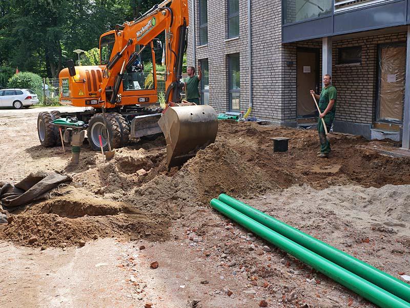 Meykopff GaLaBau Luebeck Luisenstrasse Pflasterarbeiten Bagger