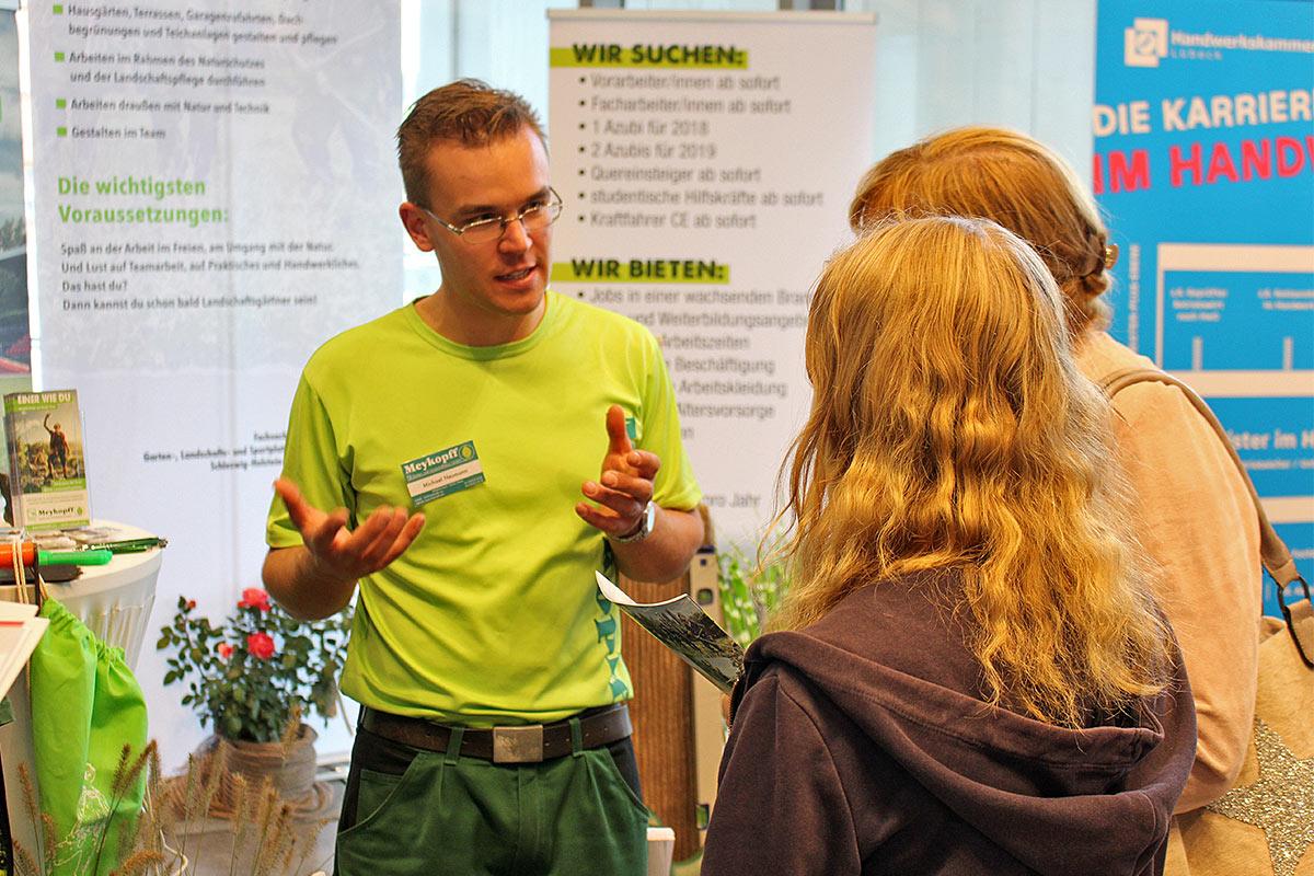 Meykopff GaLaBau Ausbildungsberatung auf der Jobmesse