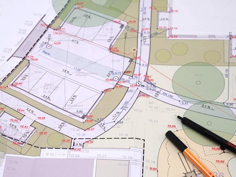 Regenwassernutzung Planung Versickerung mit Rigole Planung