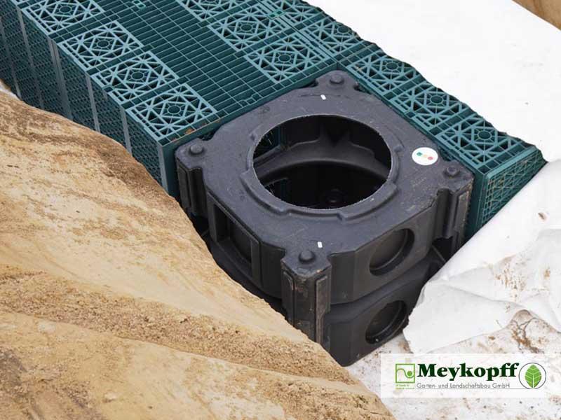 Meykopff Galabau Regenwassernutzung Rigolenersickerung Nahaufnahme