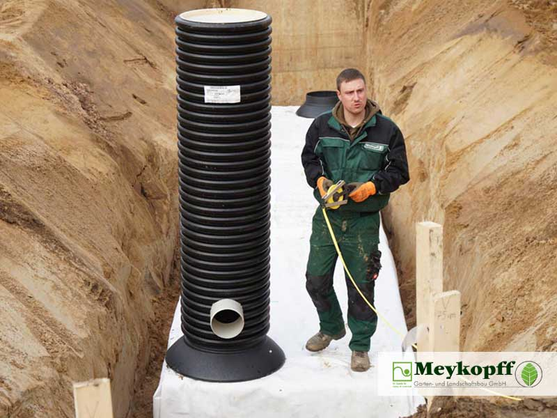 Meykopff Galabau Regenwassernutzung Rigolenersickerung letzte Vermessung