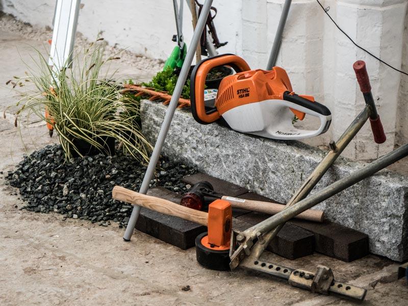 Meykopff Gartenbau Lübeck Gerätschaften auf Jobmesse