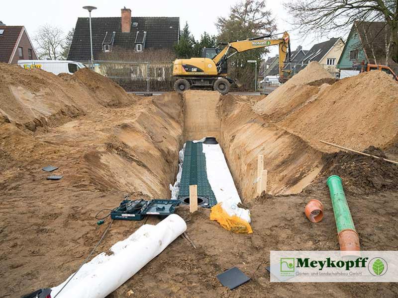 Meykopff Garten- und Landschaftsbau Huntenhorster Weg Regenwasser Rigole