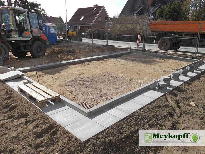 Meykopff Garten- und Landschaftsbau Huntenhorster Weg Parkplatz Bau