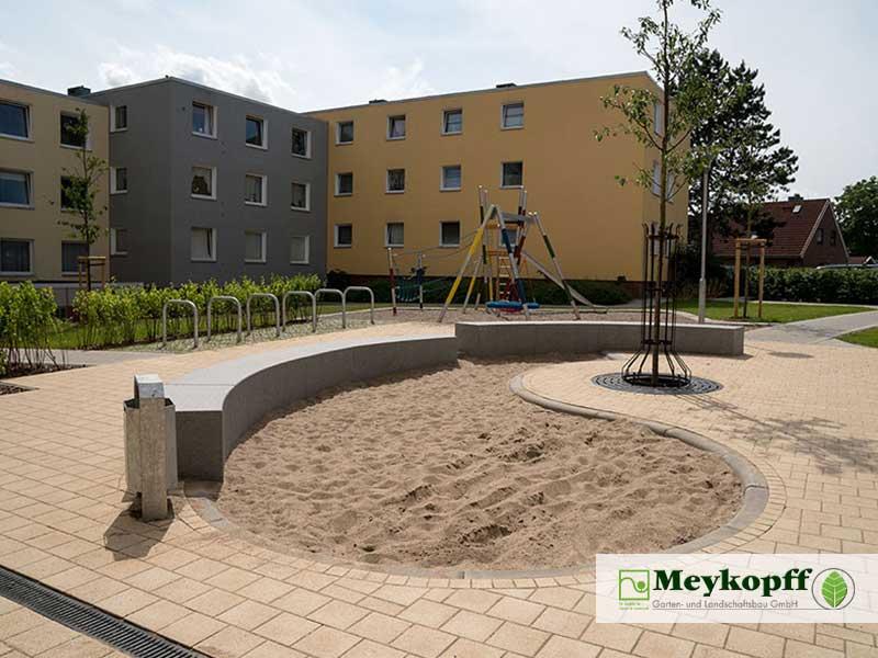 Meykopff Garten- und Landschaftsbau Huntenhorster Weg Sandkasten Bau