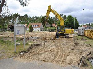Meykopff Garten- und Landschaftsbau Beginn der Bauarbeiten