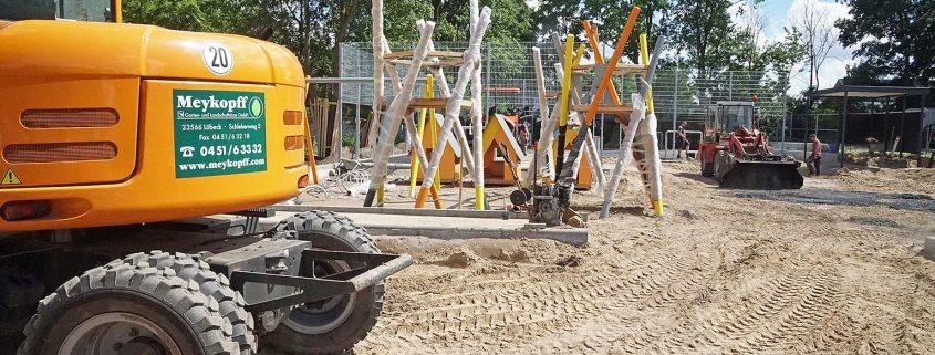 Meykopff GaLaBau Spielplatzbau Schmiedekoppel Bagger