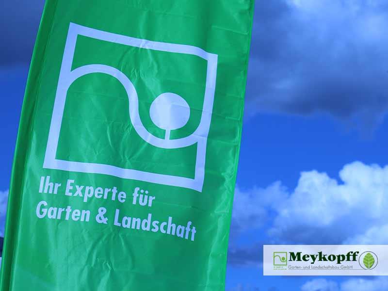 Meykopff Luebeck Garten Landschaftsbau Flughafen - Banner mit Logo