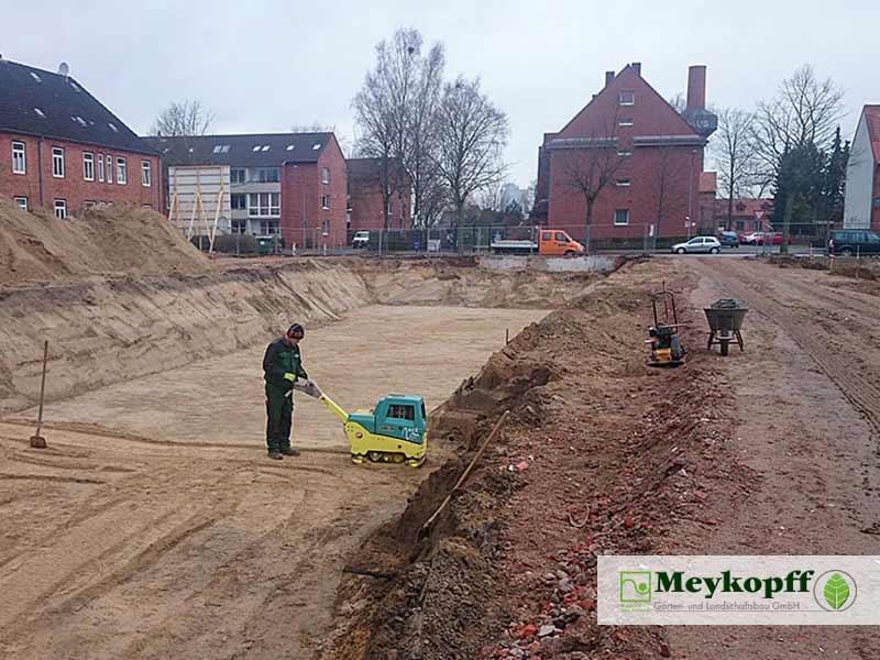Meykopff GaLaBau Luebeck Luisenstrasse Pflasterarbeiten Baugrube