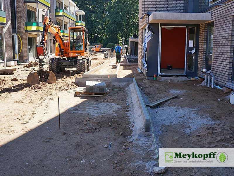 Meykopff GaLaBau Luebeck Luisenstrasse Pflasterarbeiten Innenhof