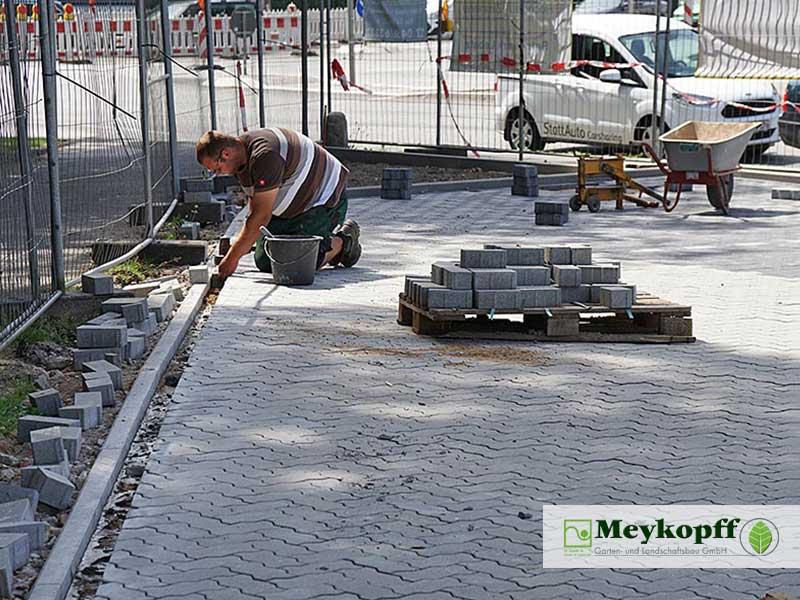 Meykopff GaLaBau Luebeck Luisenstrasse Pflastersteine verlegen