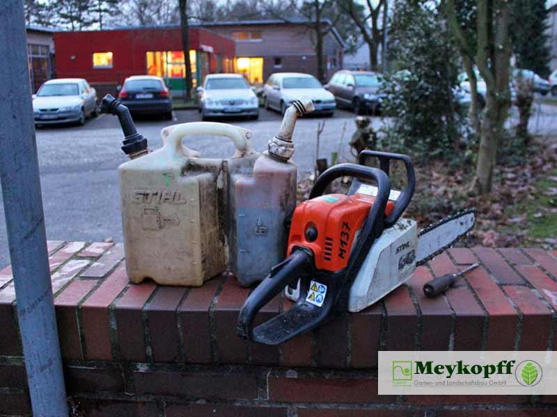 Meykopff GaLaBau Lübeck Baumfällarbeiten Motorsäge
