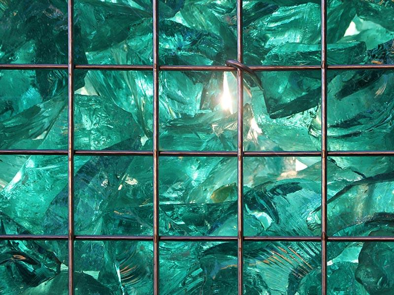 Meykopf Garten- und Landschaftsbau Lübeck Gabionen Glas Detail