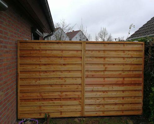 Meykopff Galabau Sichtschutzwand aus Holz