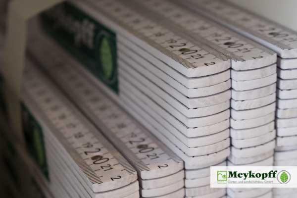 Meykopff Gartenbau Luebeck - Werbeartikel Zollstoecke auf der Parentum Jobmesse