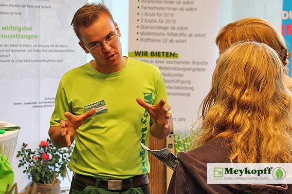 Infos vermitteln: Meykopff GaLaBau auf der Parentum Jobmesse