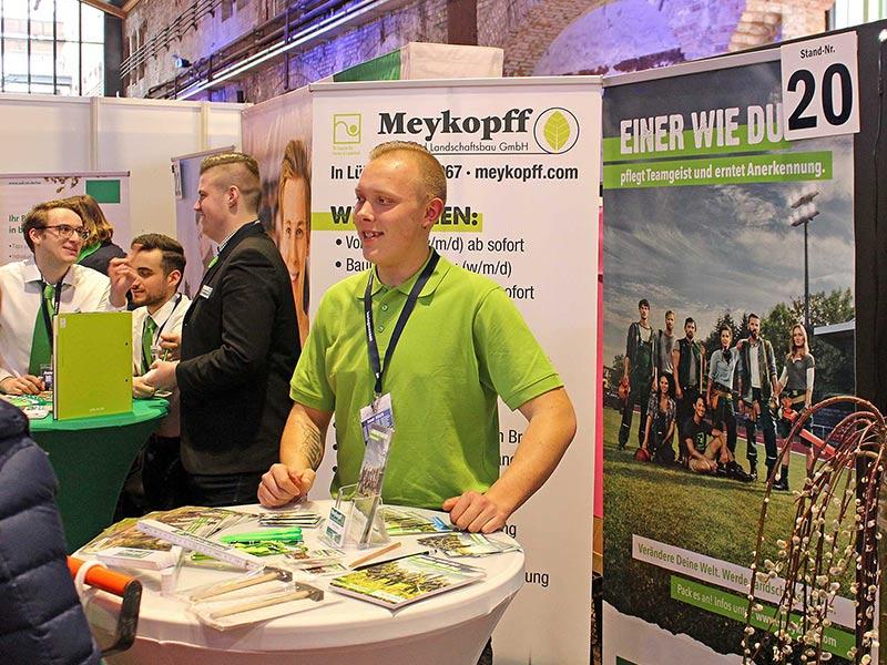Unser Meykopff-Azubi Oliver Funck auf der Jobmesse Lübeck