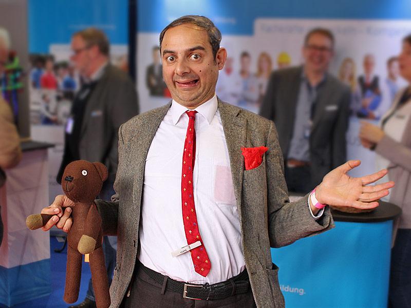 Mr. Bean Double auf der Jobmesse Lübeck