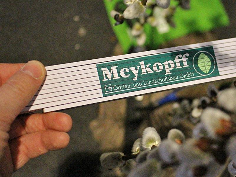 Meykopff GaLaBau Lübeck misst den Messestand
