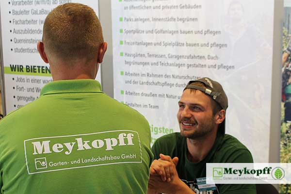 Meykopff GaLaBau Lübeck Messestand Nordjob