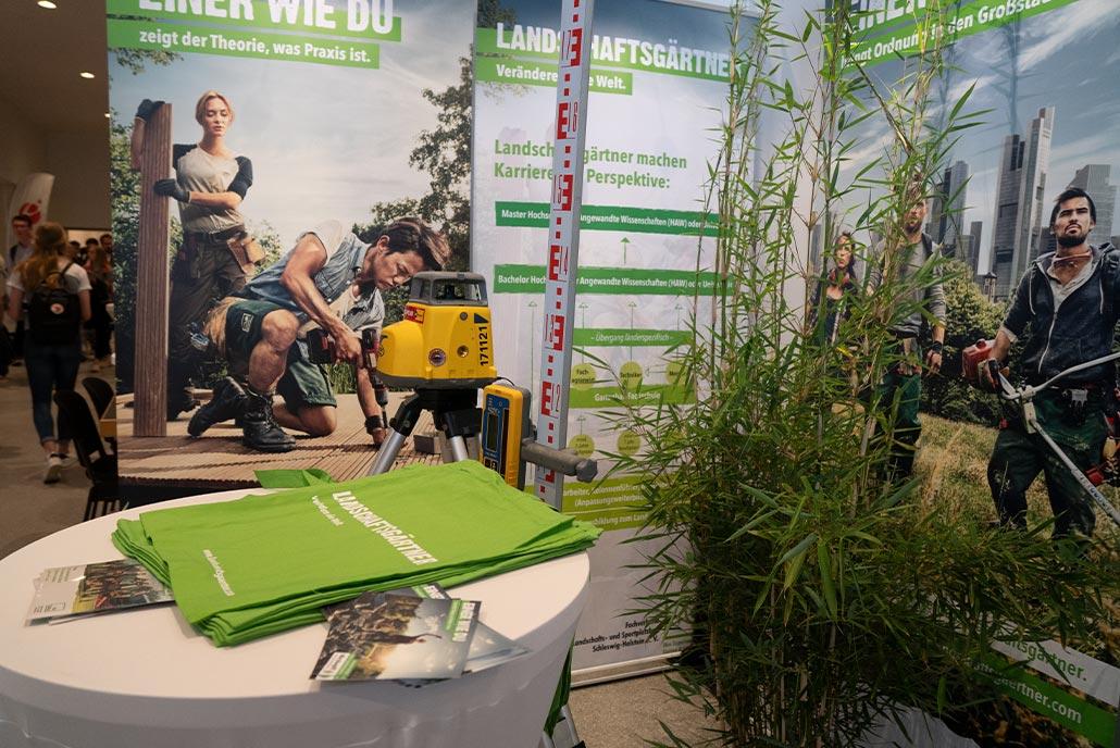 Der GaLaBau Stand von Meykopff auf der Jobmesse Nordjob in Luebeck