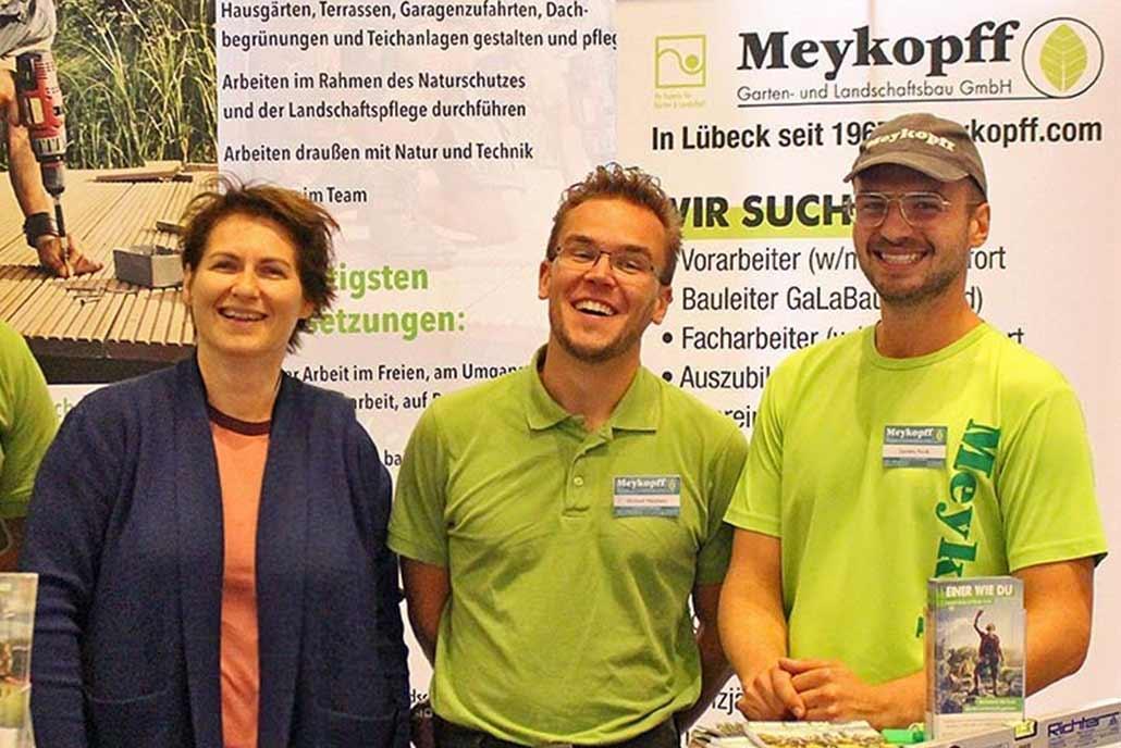 Meykopff GaLaBau Lübeck Messestand Mitarbeiter
