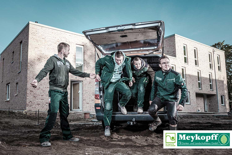 Meykopff GaLaBau Lübeck - Fotoshooting Ran ans Werk