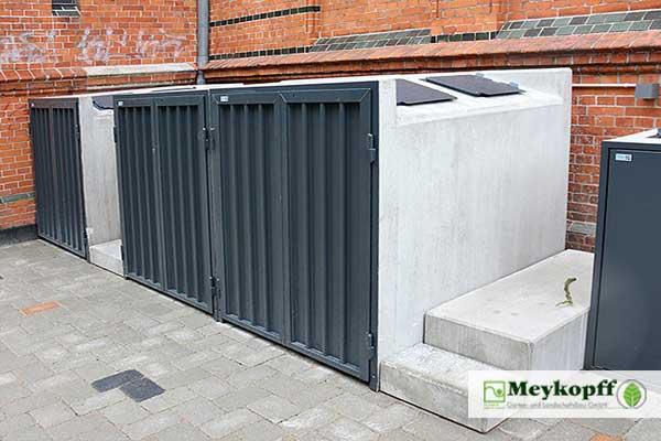 Meykopff GaLaBau Lübeck - neue Müllboxen