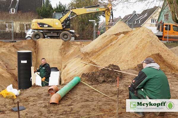 Meykopff Galabau Lübeck Regenwasserversickerung