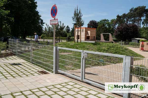 Meykopff Garten- und Landschaftsbau Metallzaun mit Tor